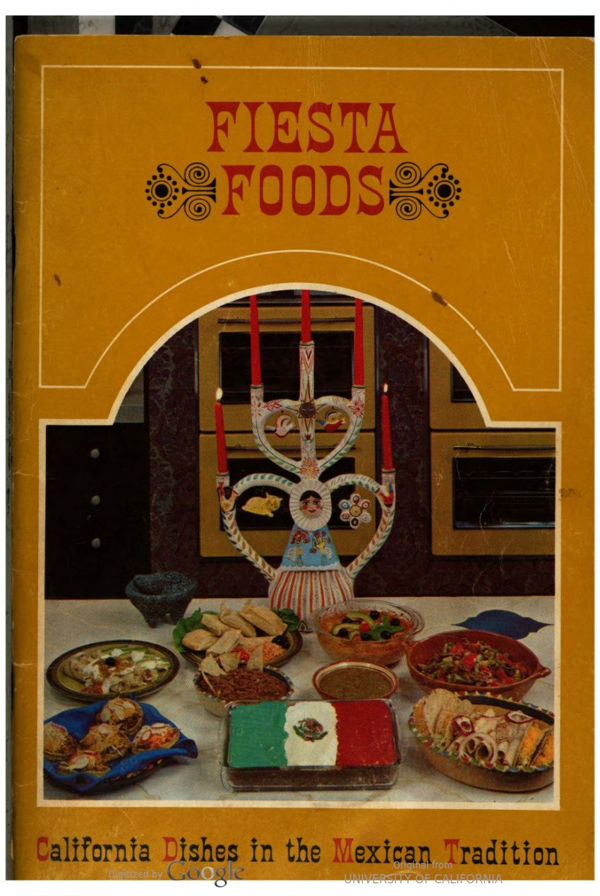 1960s Fiesta Foods California Dishes In The Mexican Tradition