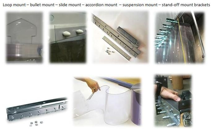 We Supply Arrow Looped Strip Curtains Universal Mount Strip