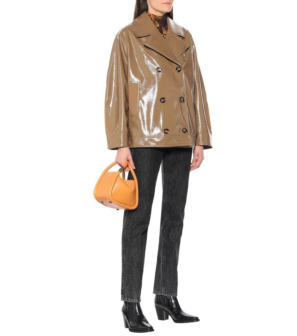 Patent Leather Jacket In Dark Beige Sponsored Leather Patent Jacket Fashion Teenage Shearling Jacket Jackets [ 1088 x 962 Pixel ]