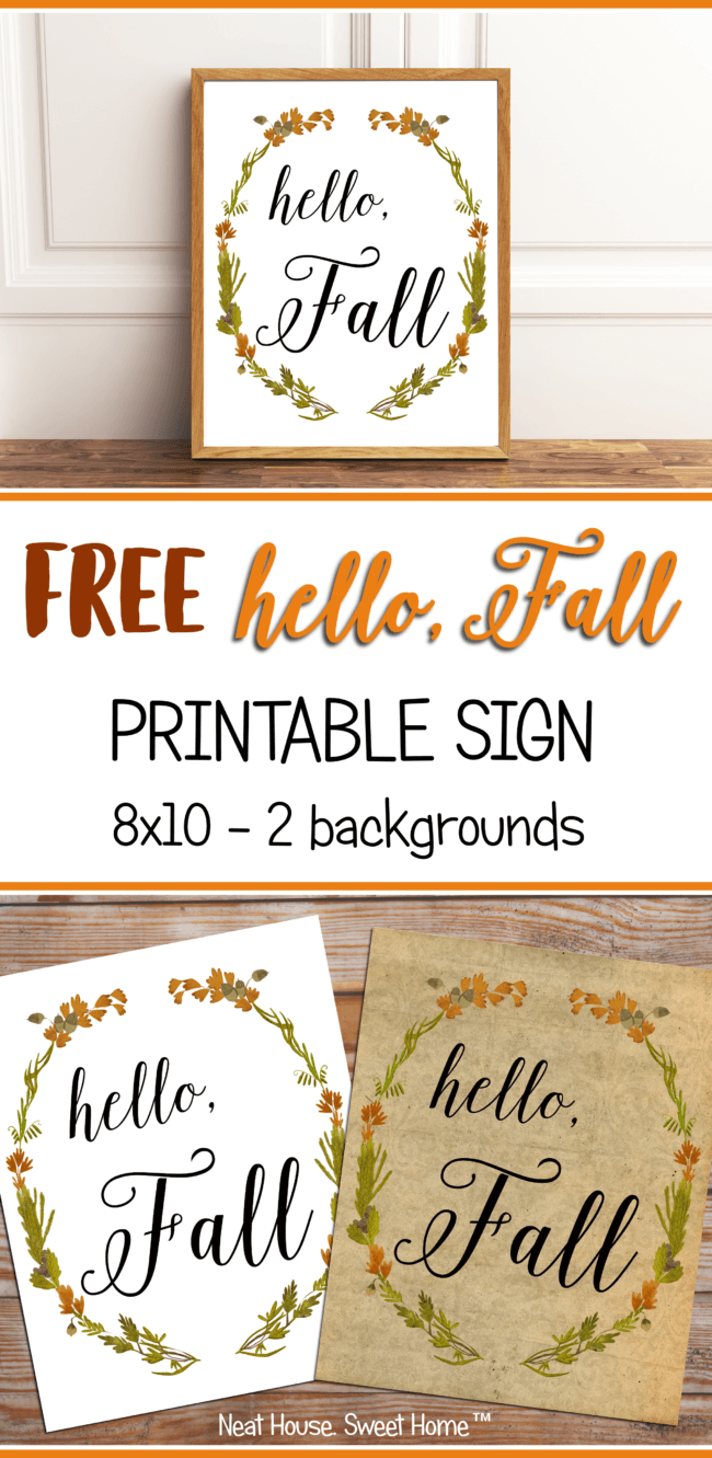 Hello, Fall! Free Printable Sign { Top Bloggers to