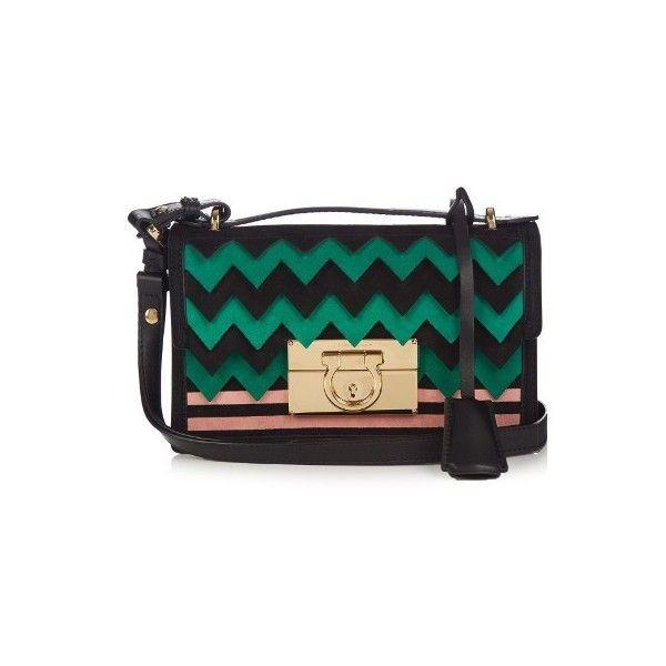 66e9c57654ff Salvatore Ferragamo Aileen small leather and suede cross-body bag ...