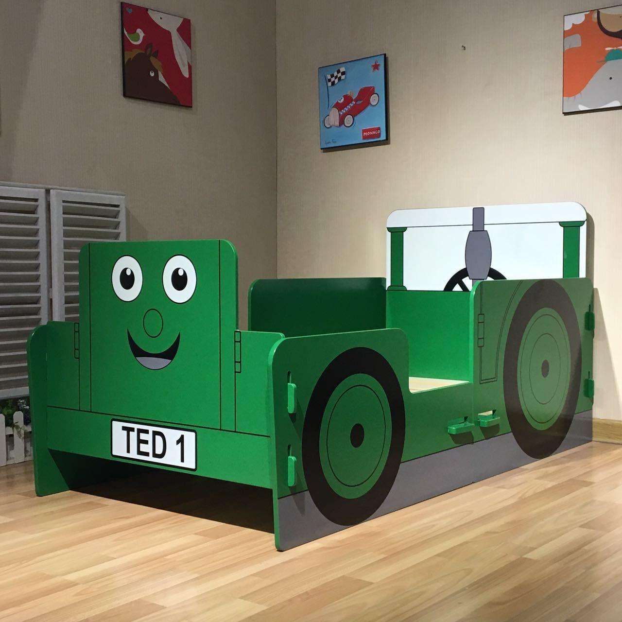 Traktor Ted Junior Bett Dieser Kinderbett Im Traktor Design Ist Ein Echter Blickfang In 2020 Betten Fur Kinder Kinder Bett Coole Kinderbetten