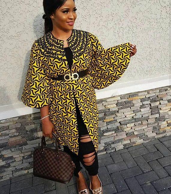 African Print Kimono Jacketankara Kimono Jacketafrican Clothing