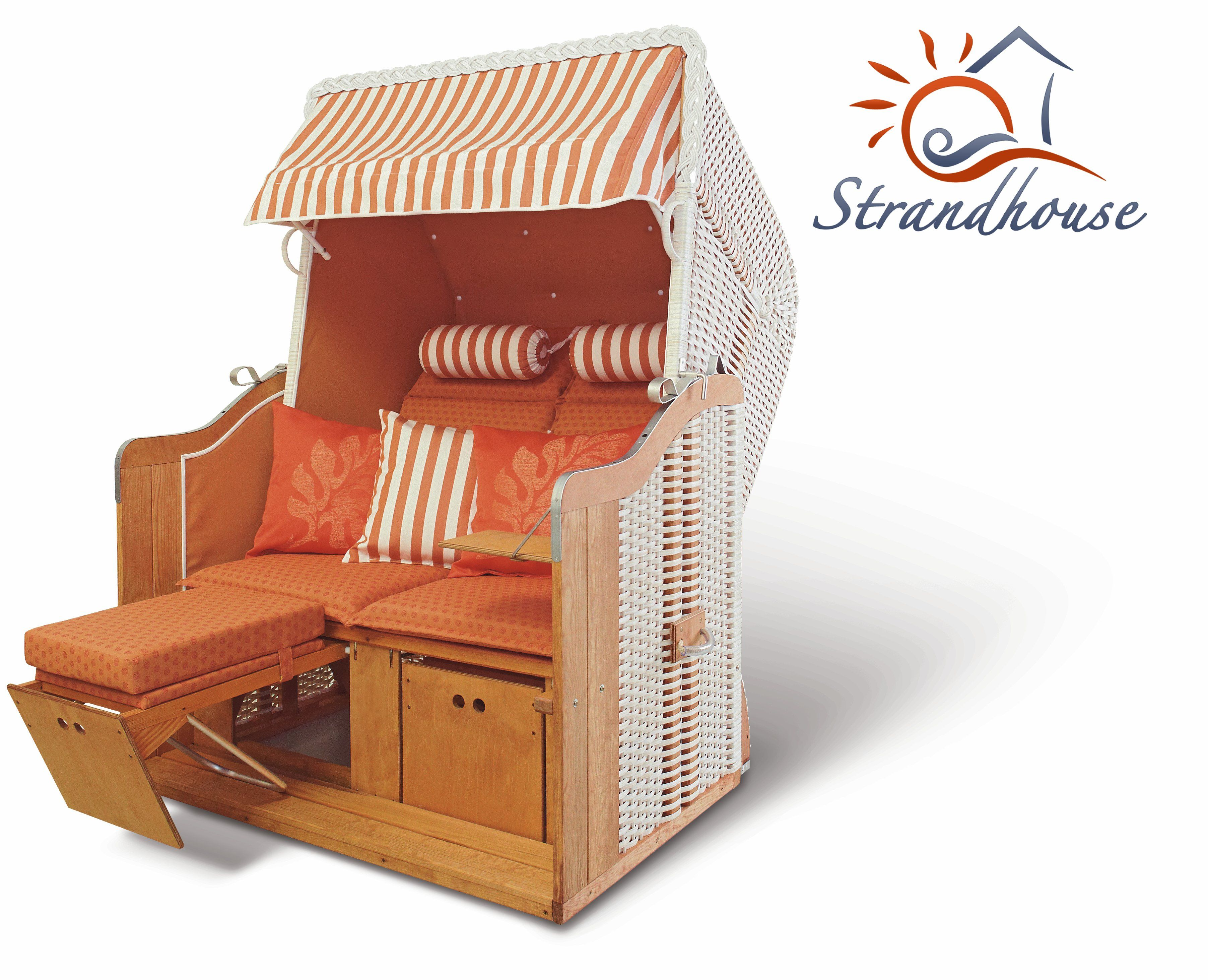 Popular Strandkorb Orange and white