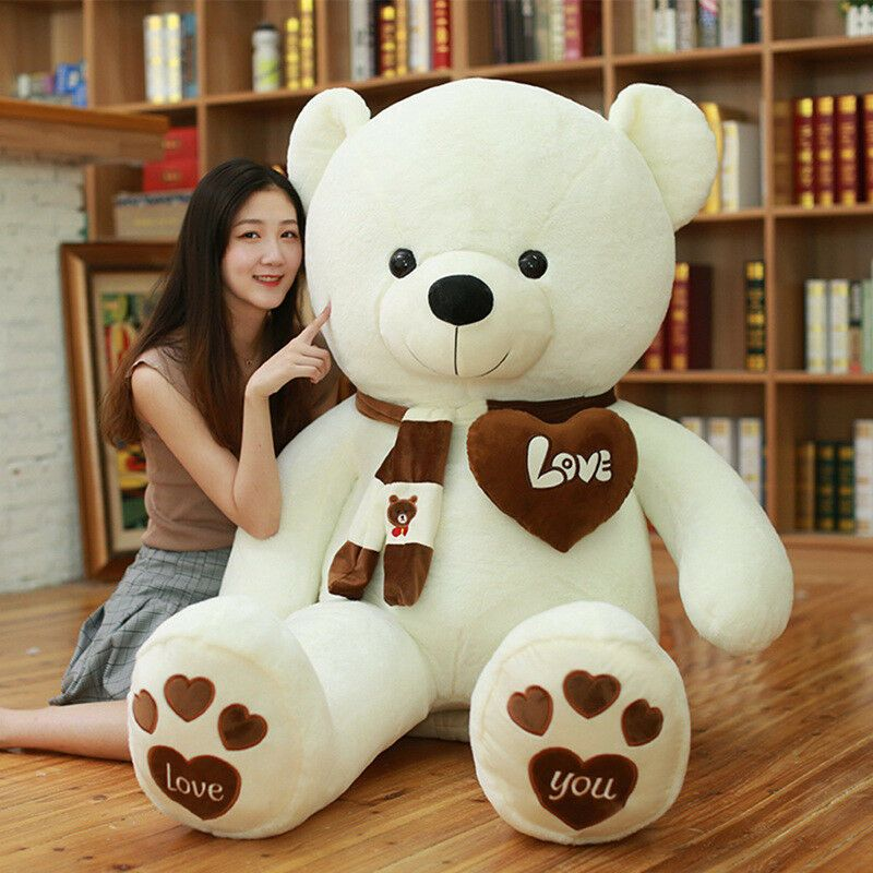 Teddy Bear Lovely Big White-Color  Bear Toys Creative Valentine/'S Gifts 80cm