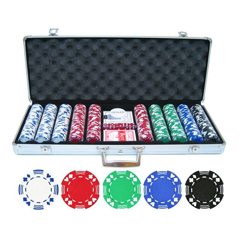 500 Piece Double Suited Poker Chip Set By Jp Commerce Poker