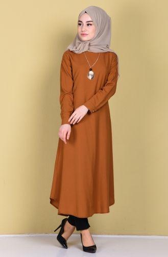 Sefamerve Kolyeli Tunik 3116 04 Tutun Modest Fashion Muslim Modest Fashion Fashion