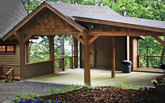 Open garage plans remarkable download carport with storage for Carport with attached workshop