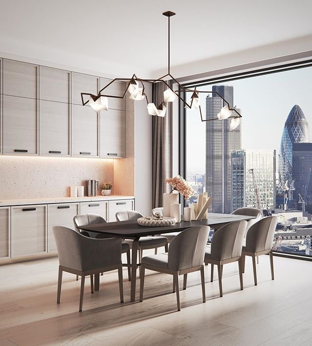 Apartment Design By Makseem In London Uk Design Only A Dining Room Design Apartment Design Dining Table Chairs
