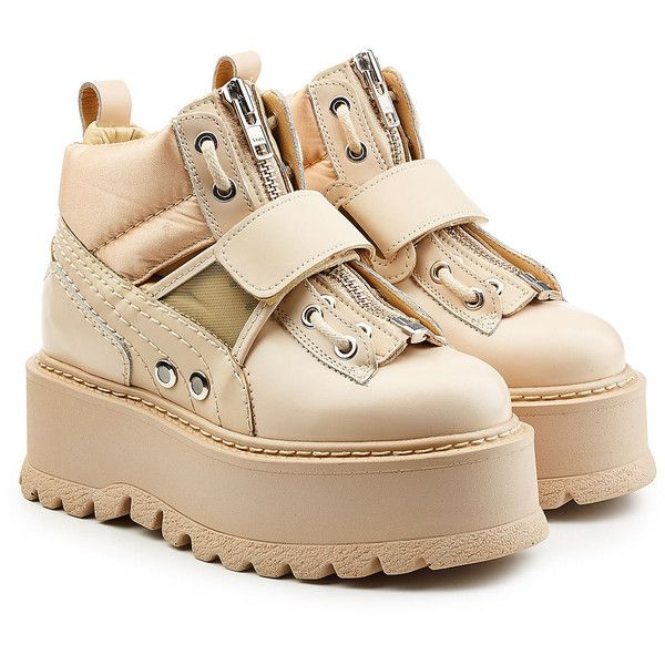 ef844438a08 FENTY Puma by Rihanna Strapped Platform Sneakers ( 245) ❤ liked on Polyvore  featuring shoes