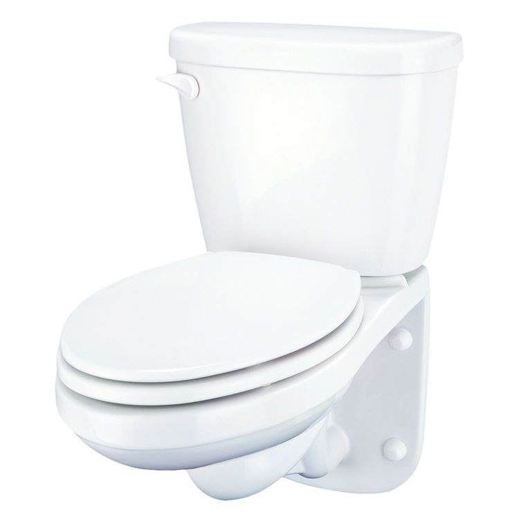 Gerber 20 021 Maxwell Two Piece Wall Hung Elongated Toilet Back Outlet 4 Vertical Rough In 1 28 Gpf Compact Wood Toilet Seat Toilet Installation Plumbing Problems