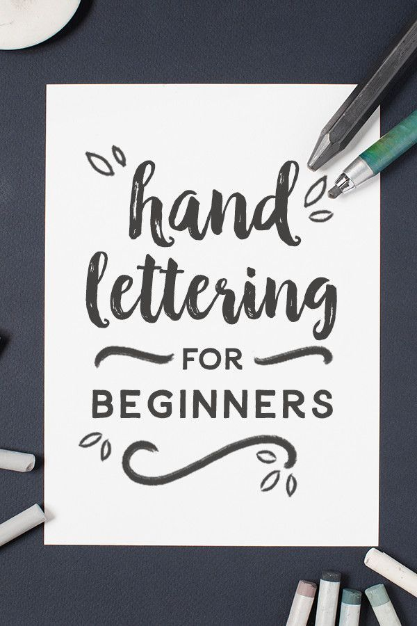 Hand lettering for beginners tutorials calligraphy and
