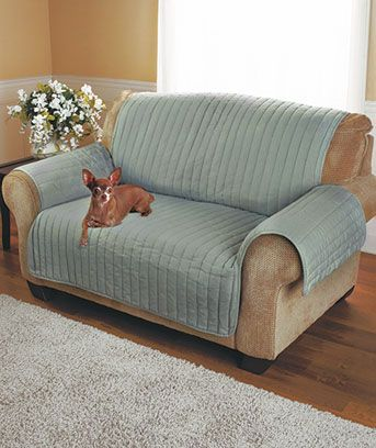 Quilted Twill Furniture Covers 2795 Sofa inexpensive pet