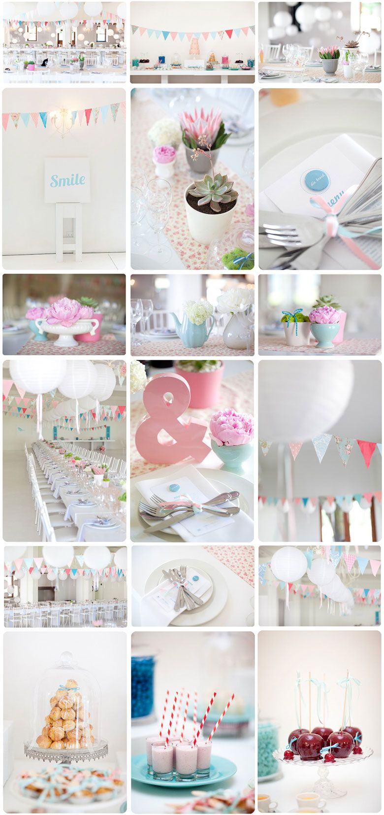 Pastels for a party from Rachael McMahon of Made From Scratch.