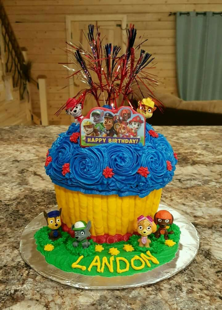 Paw Patrol Giant Cupcake Birthday Cake I Have Made You And I Will