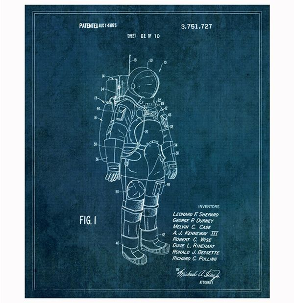 Vintage style blueprints for famous inventions vintage style blueprints for famous inventions randommization malvernweather Image collections