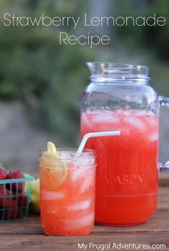 Easy Strawberry Lemonade Recipe - My Frugal Adventures