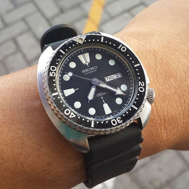 Turtle addict  Seiko 6309-7040 suwa. #seikoturtle #suwa #vintage #notareissue  #ykxwatch
