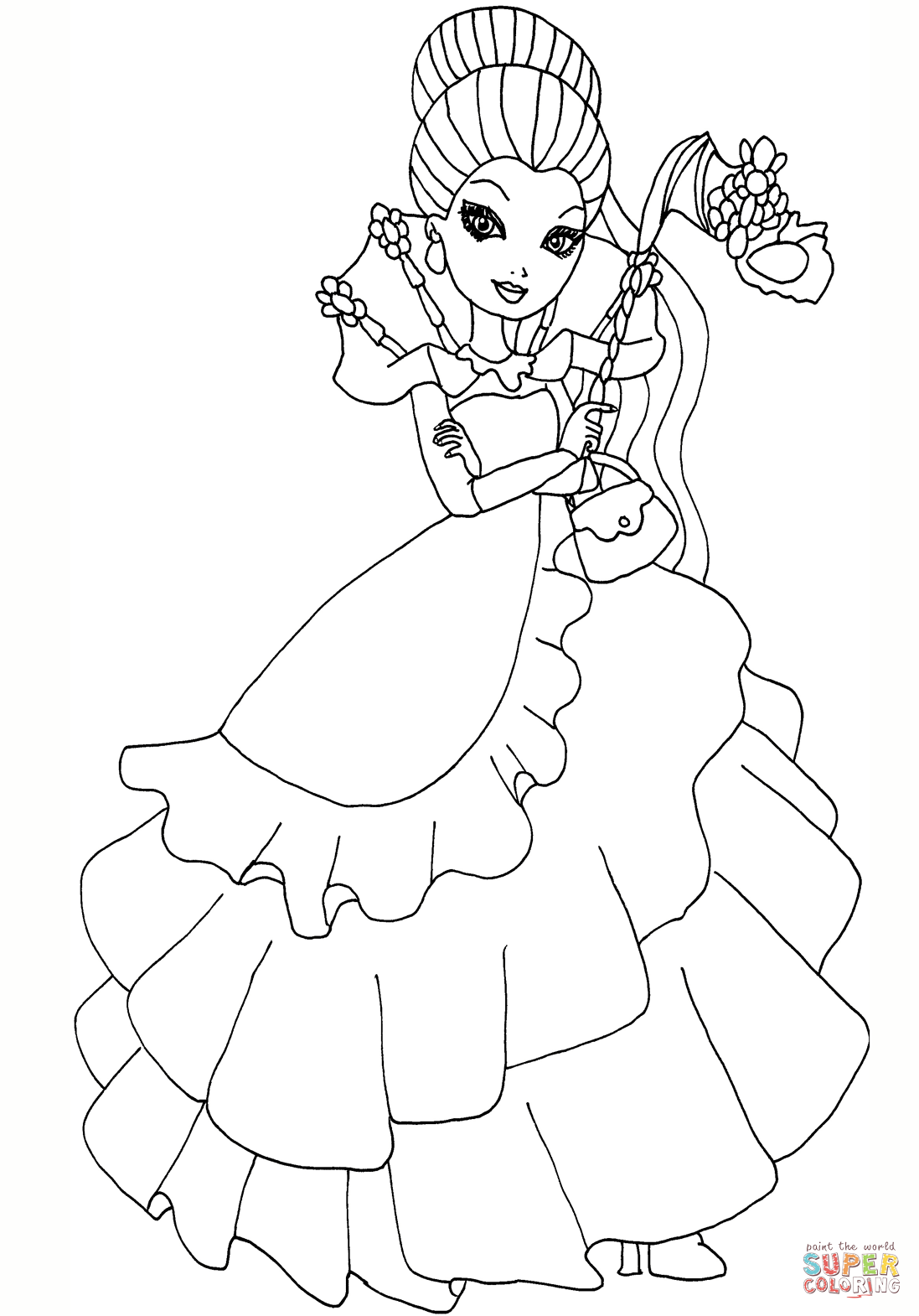 Ever After High Thronecoming Raven Queen Halloween Coloring Pages Coloring Pages Halloween Coloring