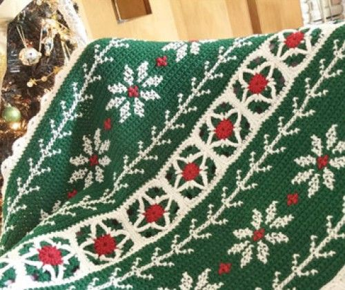 Poinsettia Throw - Free Pattern   Crochet--Holidays   Pinterest