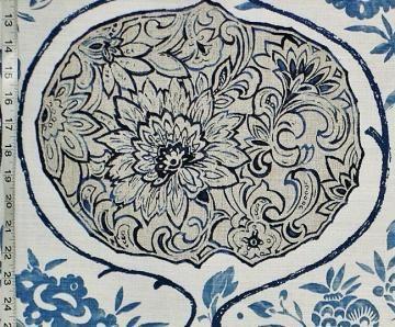 Lee Behren Silks Asian batik fabric white home decorating destash by BrickHouseFabrics for $25.00