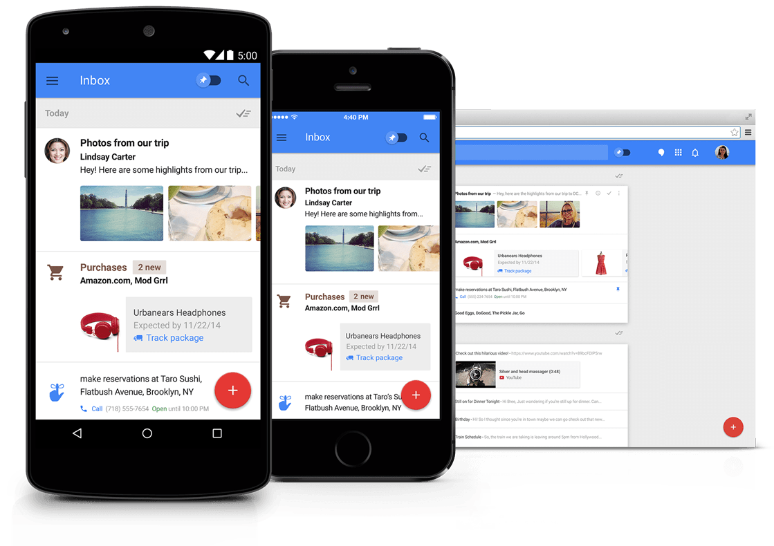 Inbox by Gmail - the inbox that works for you うごき