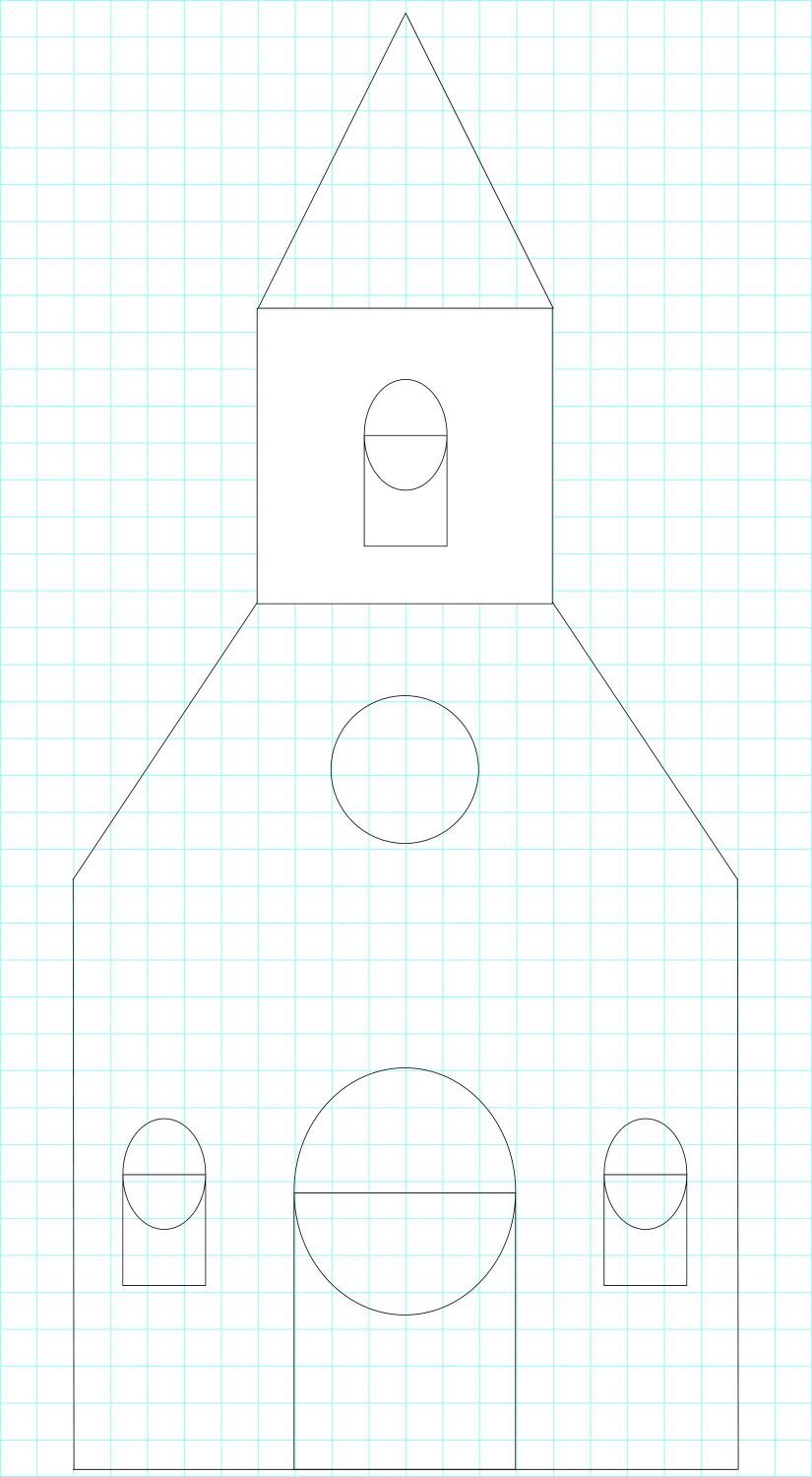 gingerbread house template church  Pattern for a gingerbread church! | Gingerbread house ...
