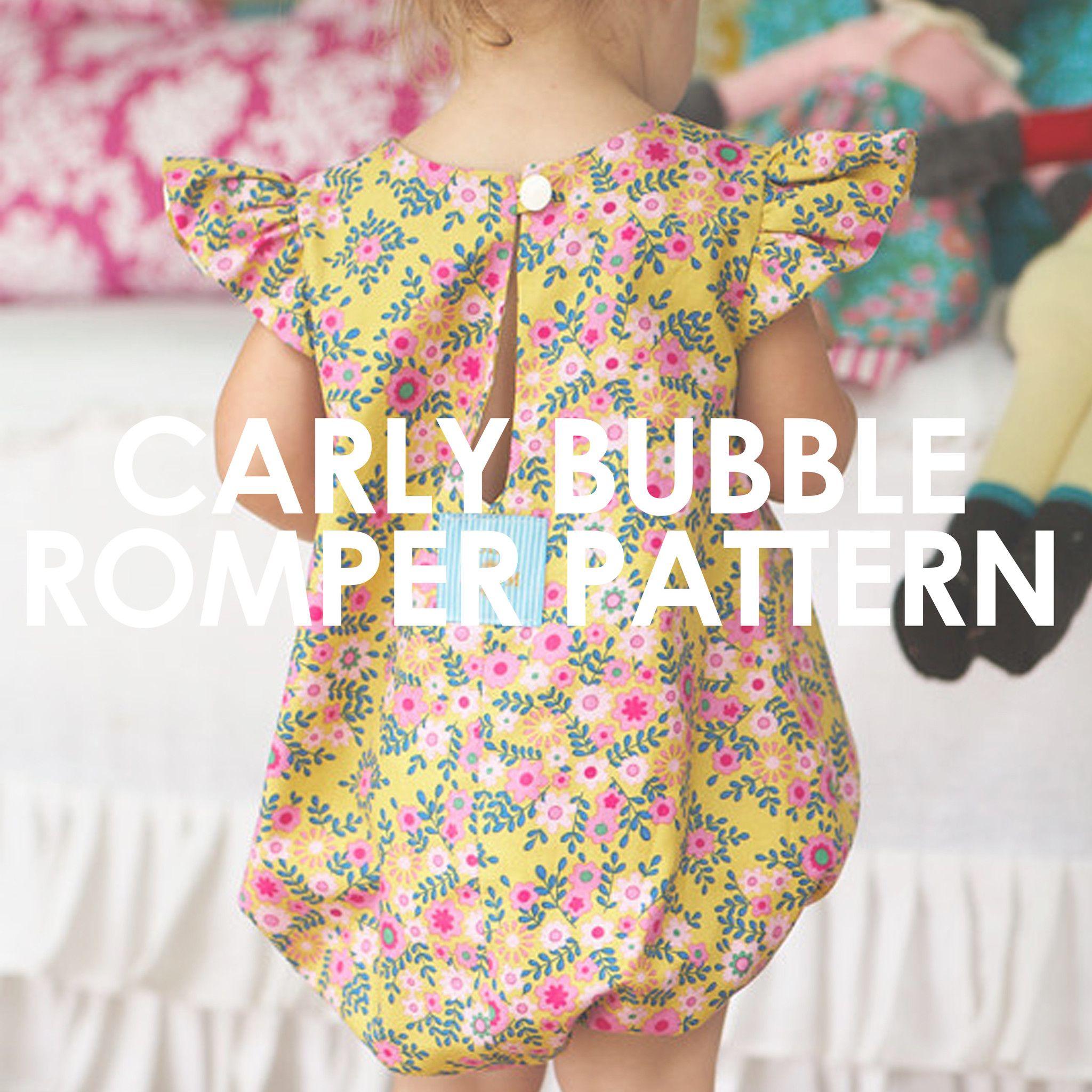 Carly Bubble Romper | Die zwillinge, Nähideen und Nähen baby