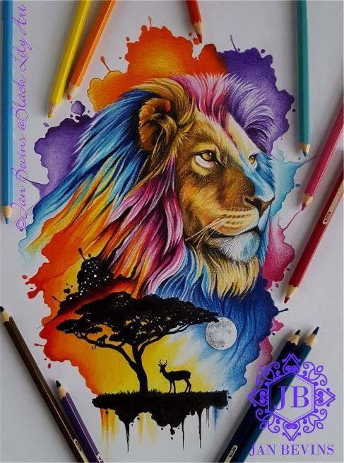 Acuarelas Leon Acuarela Pintura De Leon Dibujo De Animales