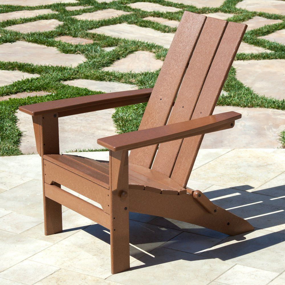 POLYWOOD® Modern Folding Adirondack Chair   If You Can Resist Settling Into  The