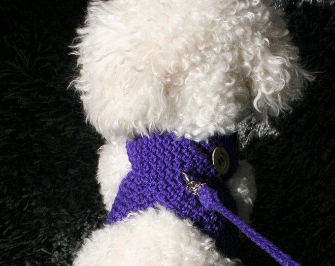 Klettergurt Für Hunde : Crochet dog harness dress small clothes and leash
