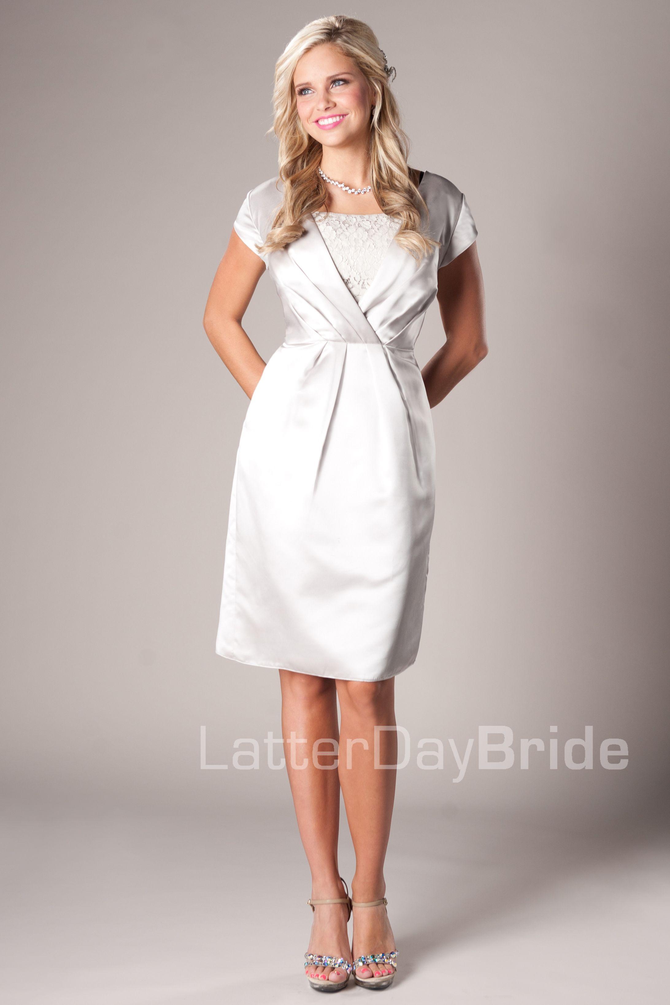Arielle Modest Mormon LDS Bridesmaid Dress   Modest Bridesmaid ...