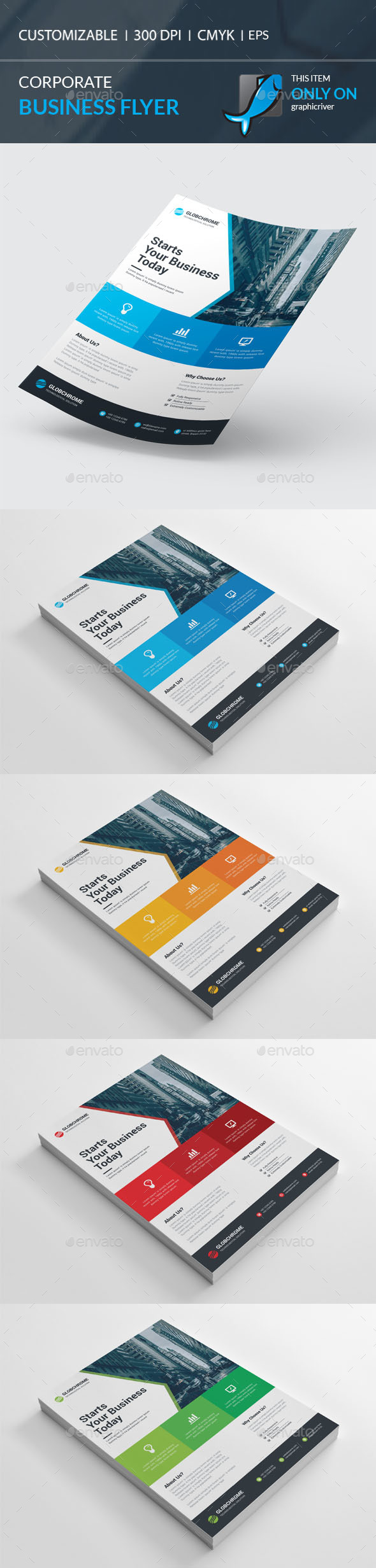 Corporate Flyer Template Vector EPS, AI. Download here: http://graphicriver.net/item/corporate-flyer/15562782?ref=ksioks