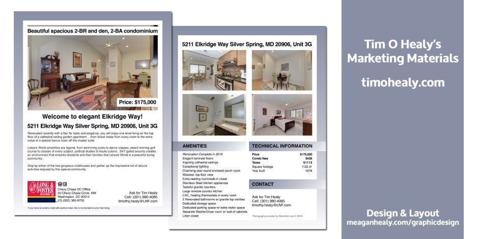 Real Estate Fact Sheet Realestate Realtor Factsheet Brochure Property Postcard Graphicdesign