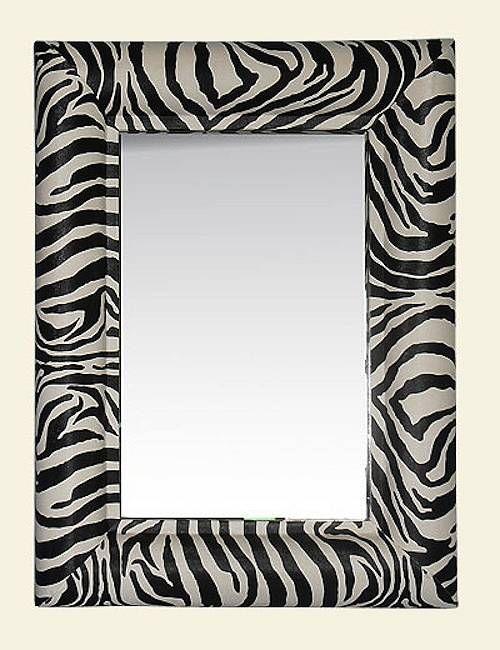 Zebra Print Mirror 163 90 Noths Home Decor Safari