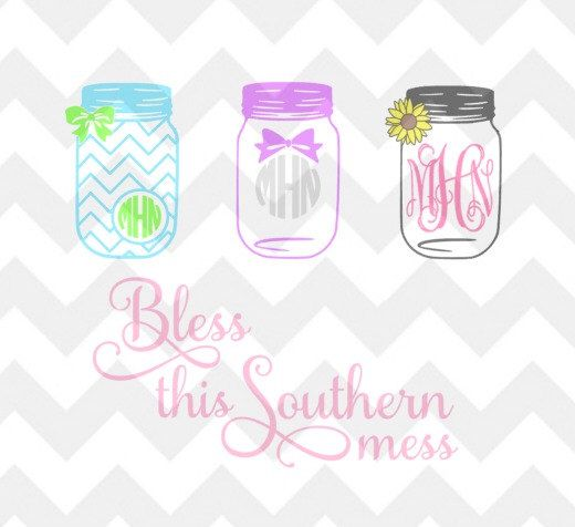 Mason Jar  Quote  File SvgDxfPng For Use With Silhouette