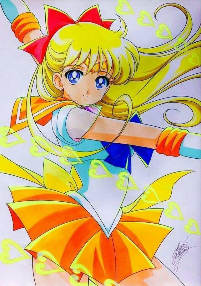 Sailor Venus Attack Sailor Moon Wallpaper Sailor Moon Art Sailor Moon Tattoo