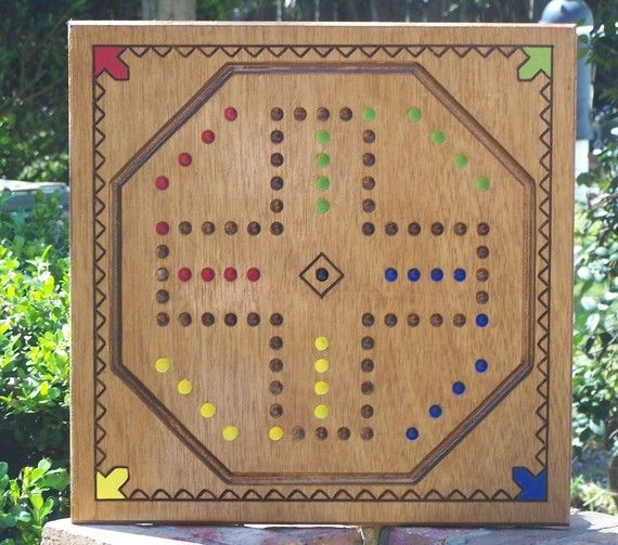 Aggravation Game Board W Marbles And Dice Etsy In 2020 Board Games Custom Woodworking Aggravation Board Game