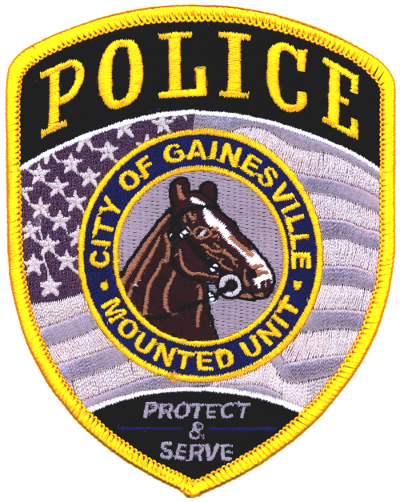 Us State Of Florida City Of Gainesville Police Department Mounted Unit Patch Police Badge Police U S States