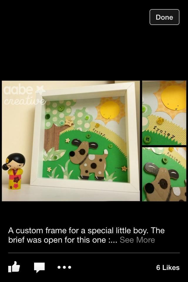 Felt dog box frame