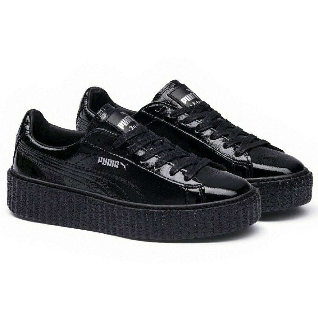 Puma Shoes | Puma Fenty Creepers Cracked Shiny Leather