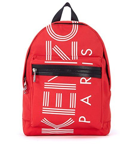 c5cf861c7e Kenzo Men s Kenzo In Red And White Nylon Backpack Red