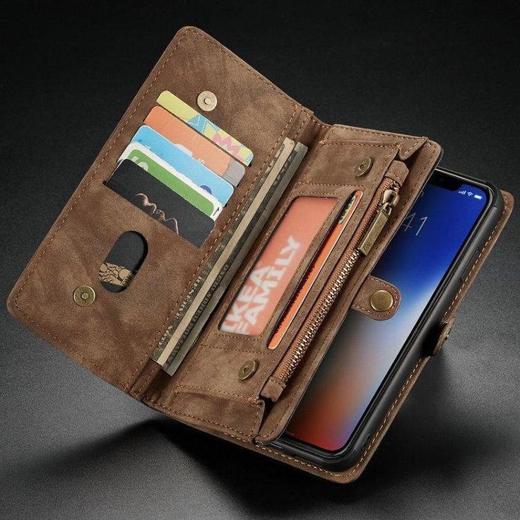 For new iphone xs max xr xs leather wallet case multi