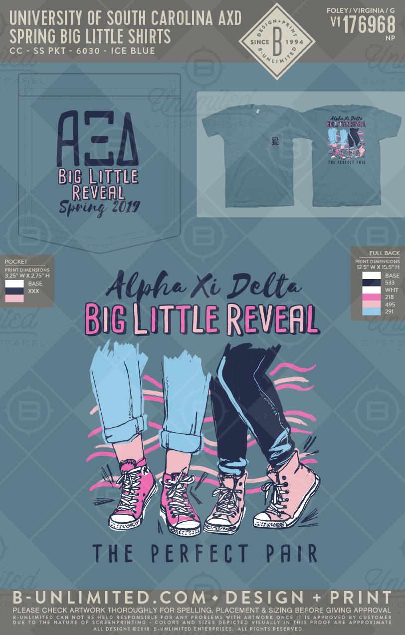 Big Little Reveal #greekshirts #greektshirts #greek #greektees #greeklife #sorority #alphaxi #axid #alphaxidelta #functions #mixers #socials #biglittle #sisterhood #shoes #theperfectpair #biglittlereveal