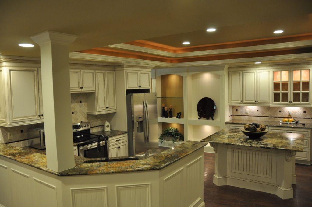 carriage house cabinet   kitchen islands - granite & butcher block