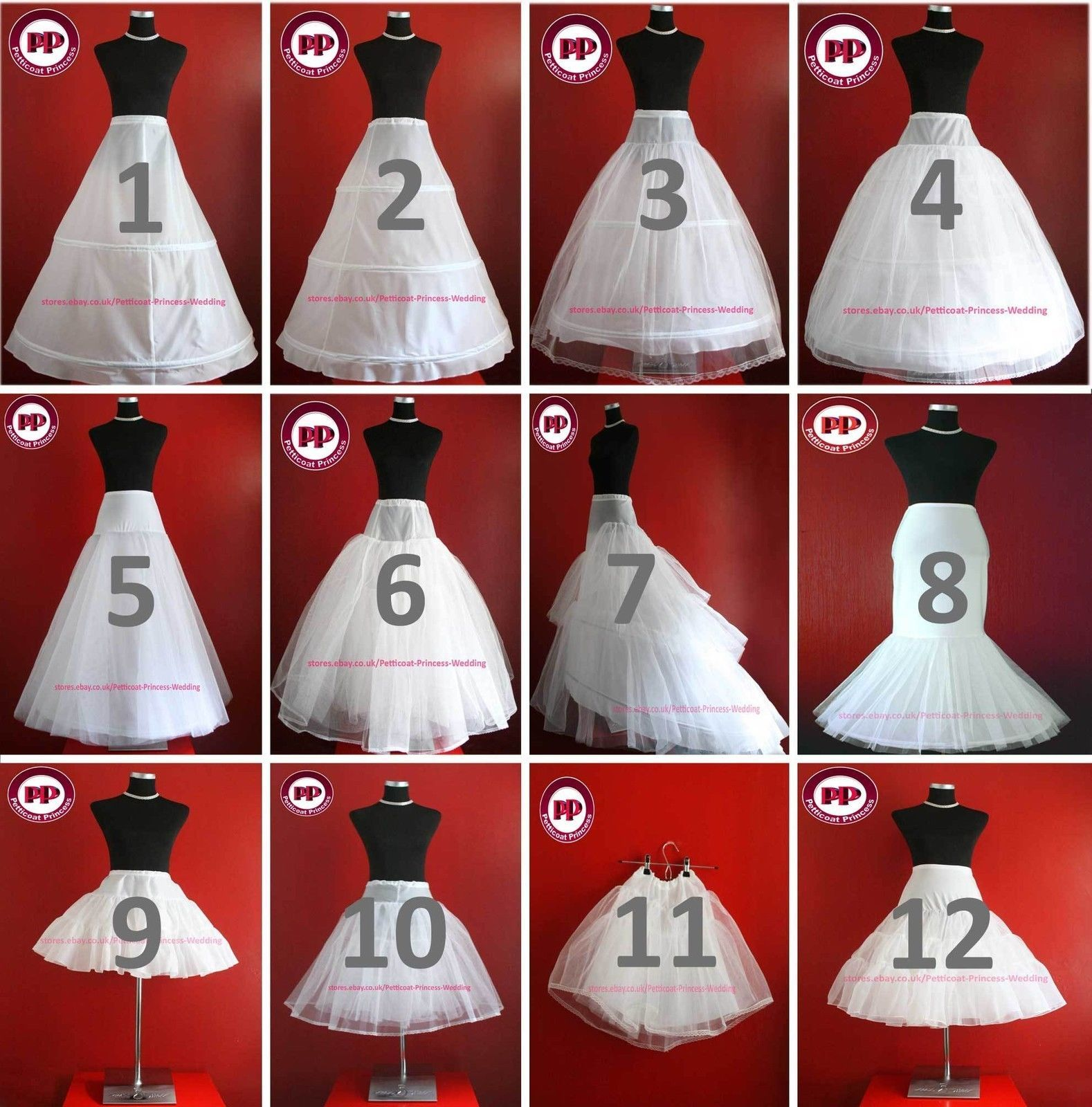 Details zu Weiß & Elfenbein Brautkleid / Ball Petticoat / Unterrock ...