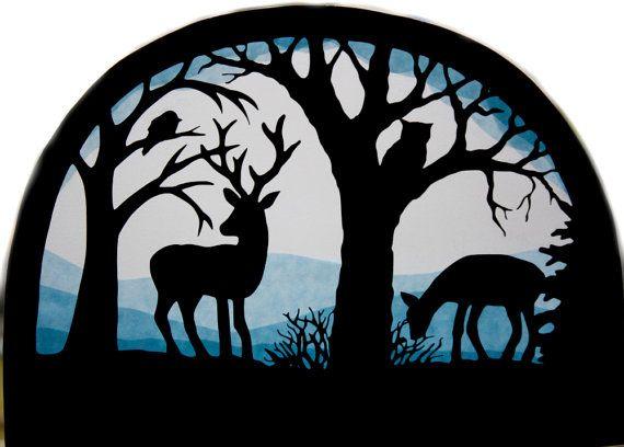 Fensterbild Tiere Im Winter Transparentbild Von