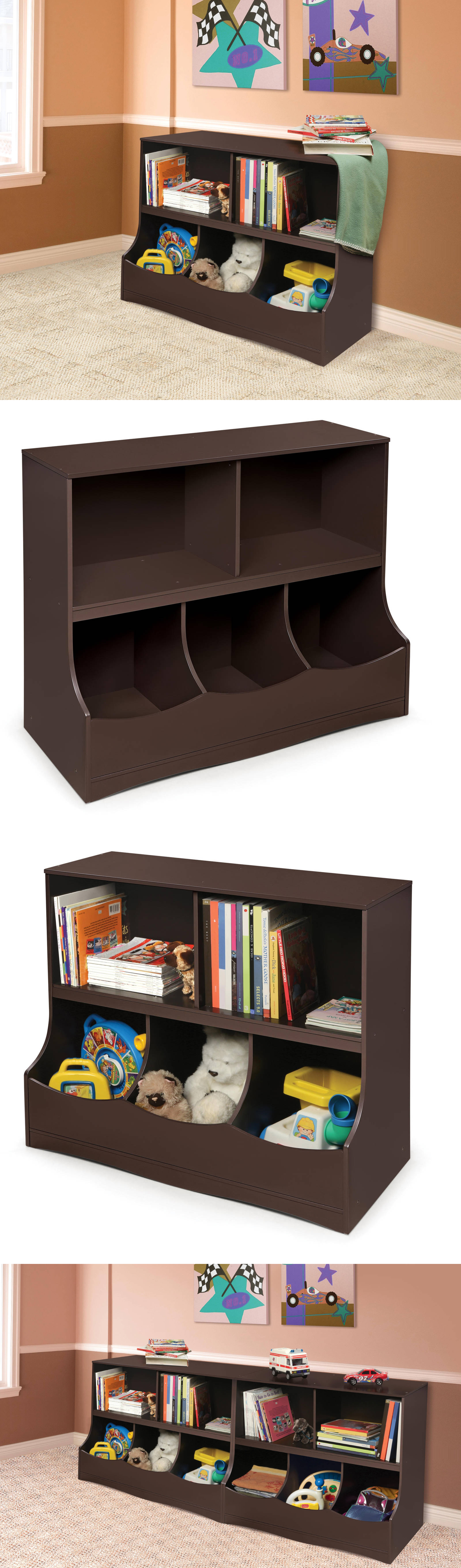 Toy Boxes Toy Organizer Espresso Storage Cabinets For Kids