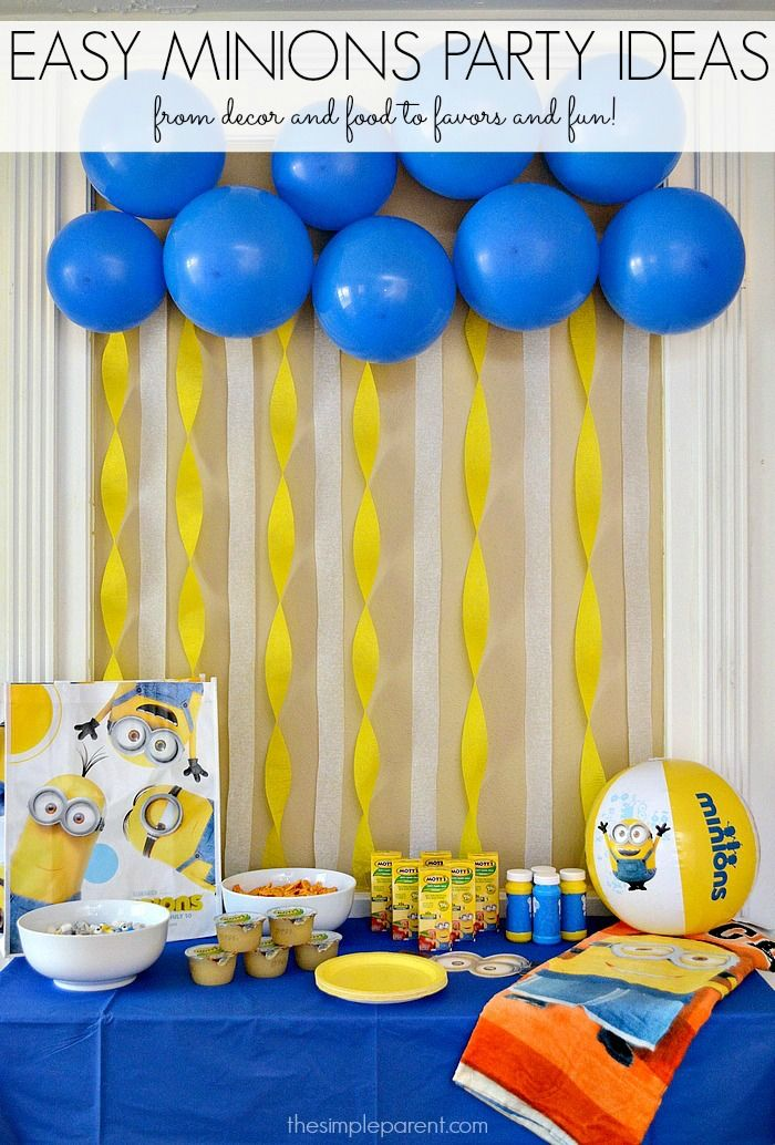 throw a minions or despicable me party with these easy minions