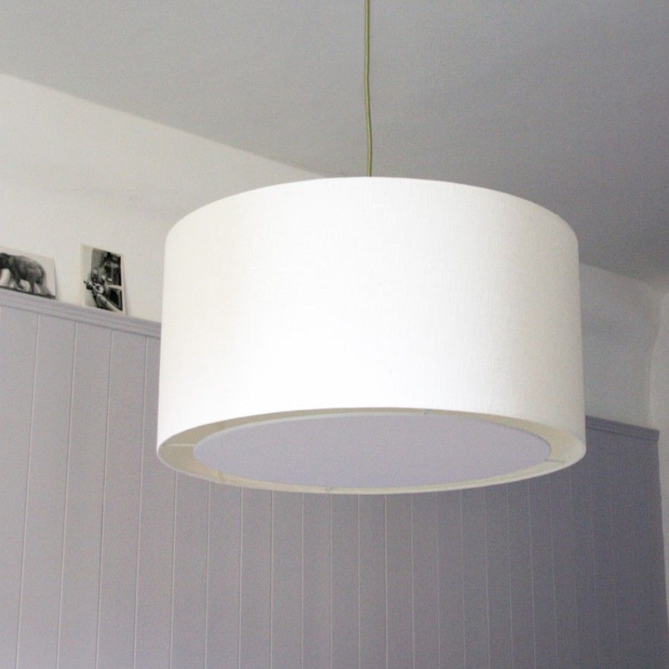 Drum Lamp Shade Ceiling Fan